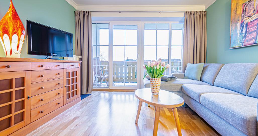 Wohnraum Suite Glashotel